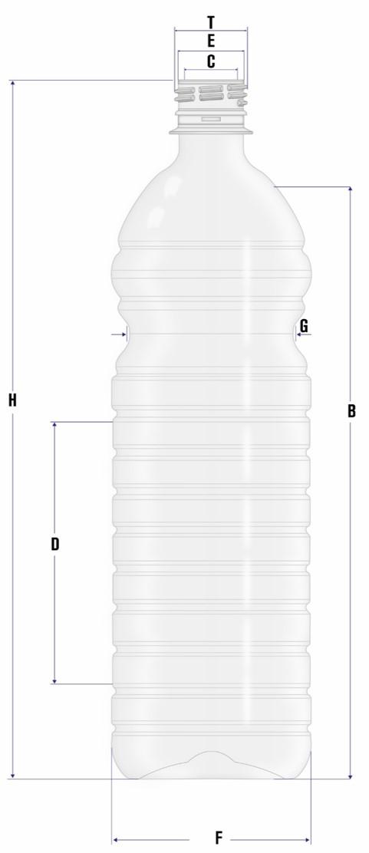 PET Bottle 1000 mL (E) - English Proyectos PET | Preforms